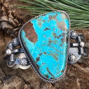 Chimney Butte Sterling Silver Turquoise Cuff